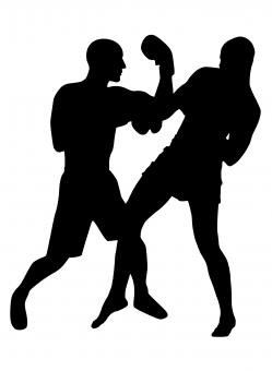 Free Stock Photo of Boxing Match Silhouette