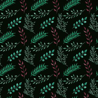 Free Stock Photo of Seamless Leaves Pattern