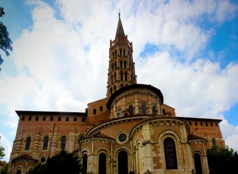 Free Stock Photo of Basilica of Saint Sernin - Toulouse - France