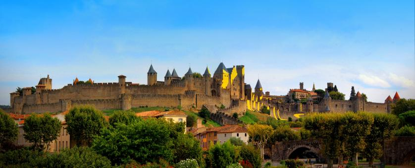Free Stock Photo of Carcassonne Medieval Citadel - France