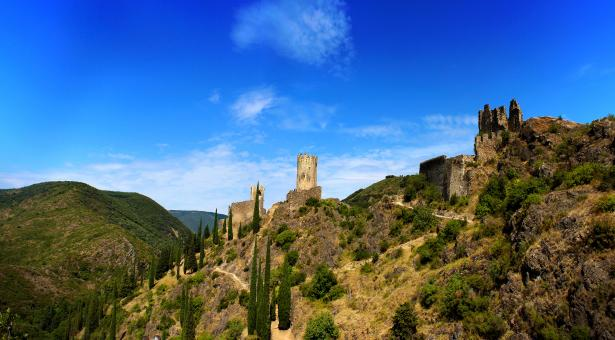Free Stock Photo of Chateaux de Lastours - Cathar Castles - 11th Century - Southern France