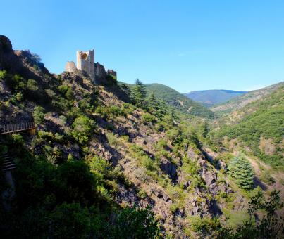 Free Stock Photo of Chateaux de Lastours - Cathars - Languedoc - France