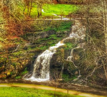 Free Stock Photo of Dreamy Little Cascade - La Coruna - Northern Spain