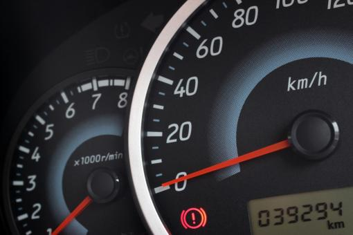 Free Stock Photo of Detail of the rev counter, speedometer and odometer of a modern car