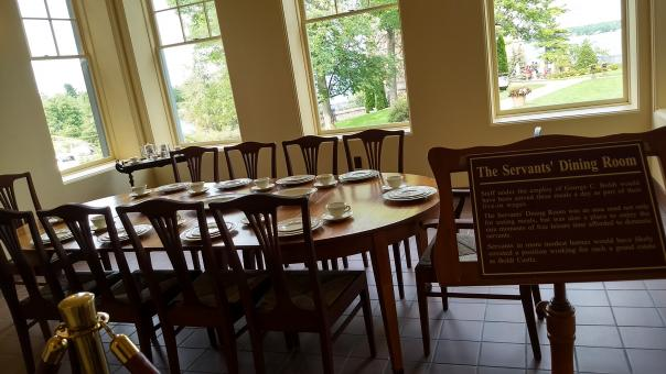 Free Stock Photo of Boldt Castle - Servants Dining Area