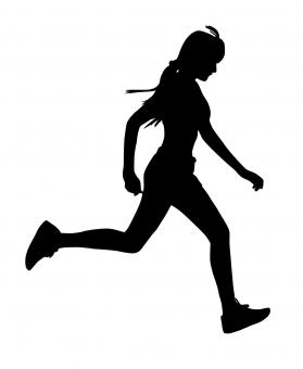 Free Stock Photo of Woman Running Silhouette