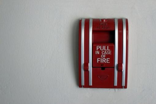 Free Stock Photo of Red Fire Alarm Emergency Switch