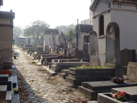 Free Stock Photo of Autumn light, morning, cemetery in Paris