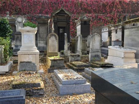 Free Stock Photo of Graves in Cemetery in Paris