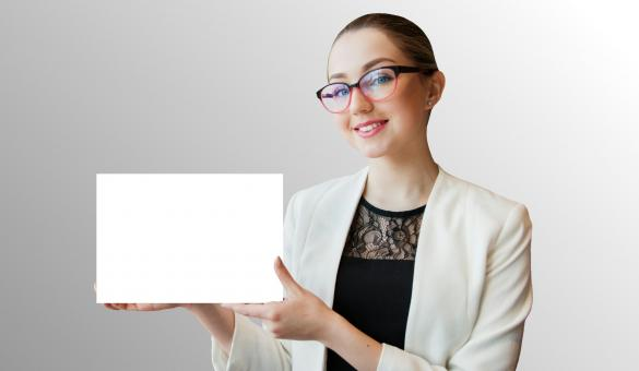Free Stock Photo of Woman Holding White Paper