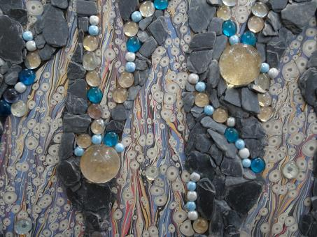 Free Stock Photo of Mosaic art with pearls