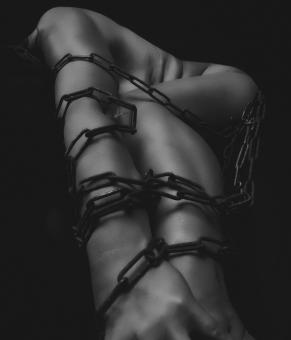 Free Stock Photo of Body in Chains