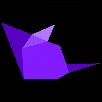 Free Stock Photo of Purple Polygonal Mouse