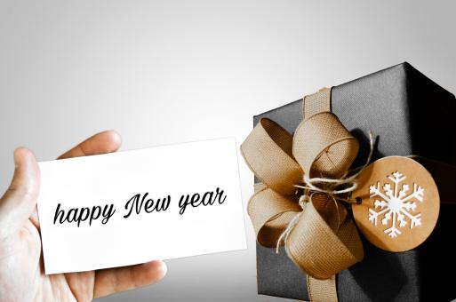 Free Stock Photo of New Year Gift and Card