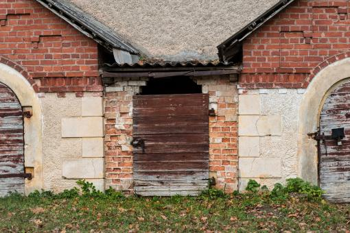 Free Stock Photo of Old doors to shed