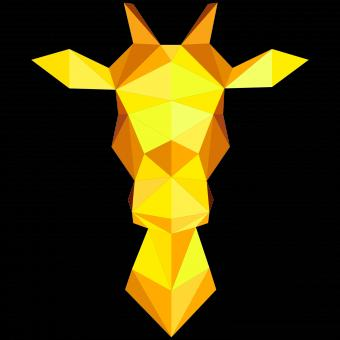 Free Stock Photo of Polygonal Giraffe