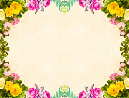 Free Stock Photo of Floral Frame for Card