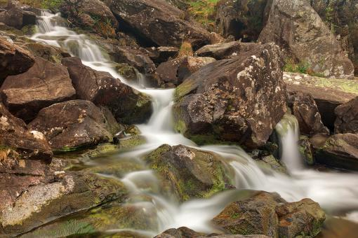 Free Stock Photo of Cwm Idwal Cascades