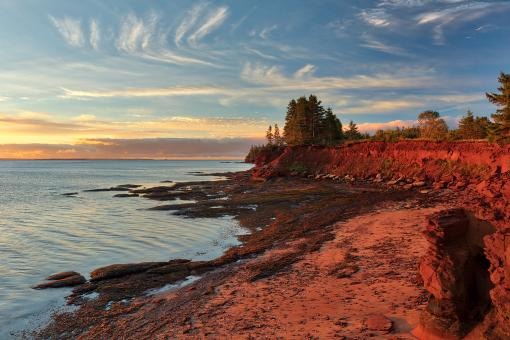 Free Stock Photo of Red Sandstone Hour of Prince Edward Island
