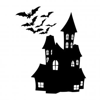 Free Stock Photo of Halloween house Silhouette