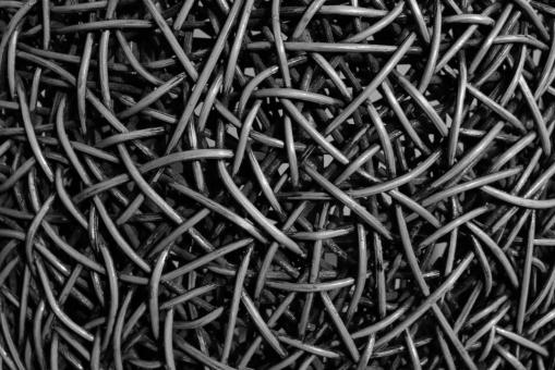 Free Stock Photo of Abstract Black and White Tangled Pattern Background