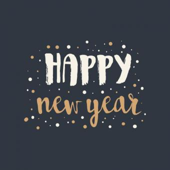 Free Stock Photo of Cute Lettering For New Year