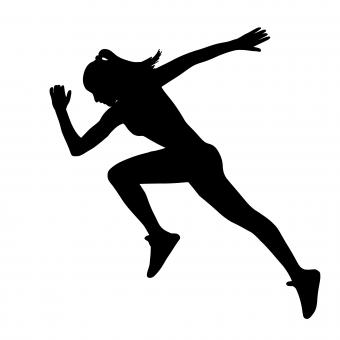 Free Stock Photo of Running Woman Silhouette