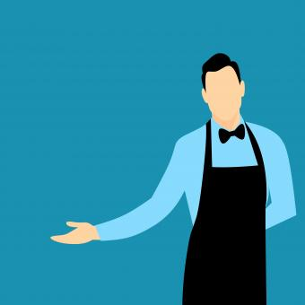 Free Stock Photo of Waiter Illustration