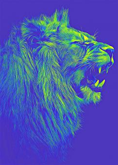 Free Stock Photo of Blue Lion