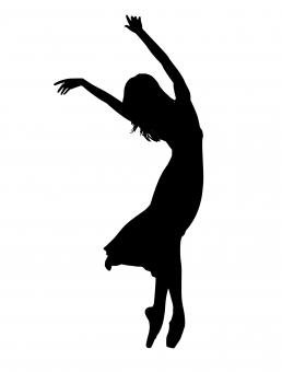 Free Stock Photo of Dancer Silhouette