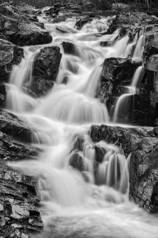 Free Stock Photo of Bulls Eye Falls - Black & White