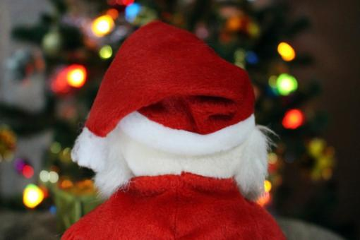 Free Stock Photo of Back of Santa Claus' Red Hat
