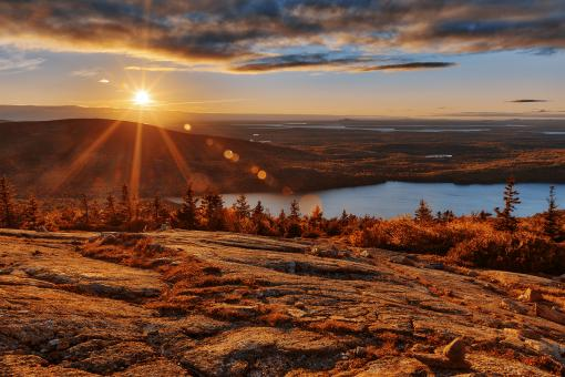 Free Stock Photo of Cadillac Mountain Sunset