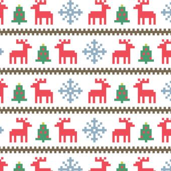 Free Stock Photo of Christmas Stitched Pattern