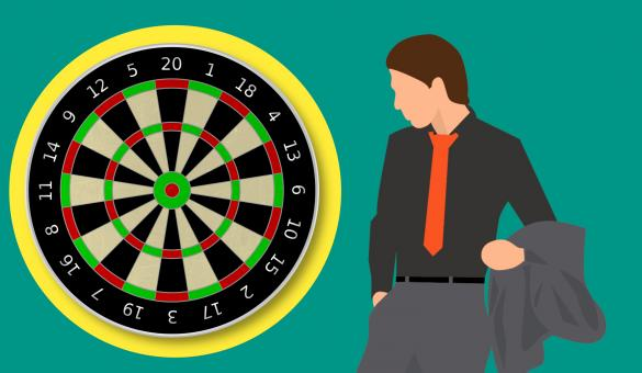 Free Stock Photo of Dartboard Games Illustration