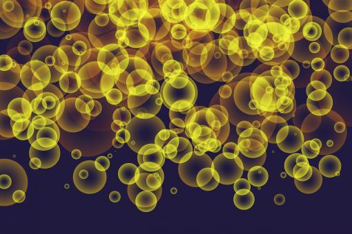 Free Stock Photo of Yellow Bubbles Bokeh Background