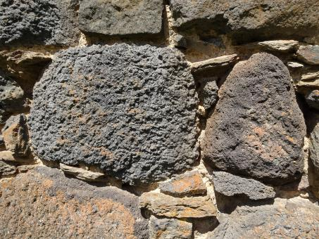 Free Stock Photo of Volcanic stone wall