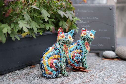 Free Stock Photo of Gorgeous mosaic cats...