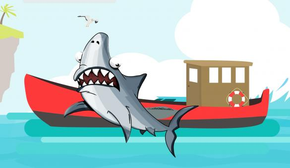 Free Stock Photo of Shark Illustration