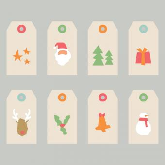 Free Stock Photo of Abstract Christmas Tags