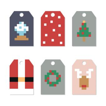 Free Stock Photo of Christmas Tags With Pixels
