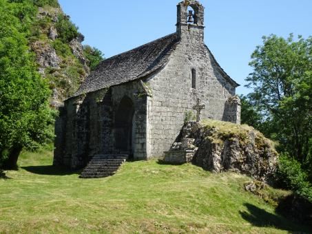 Free Stock Photo of Very isolated stone chapel