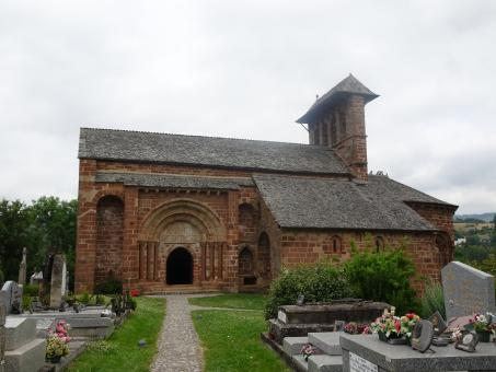 Free Stock Photo of Very old red sandstone church