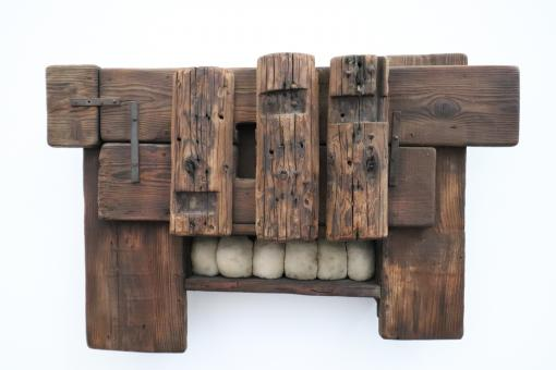 Free Stock Photo of Modern art wood sculpture