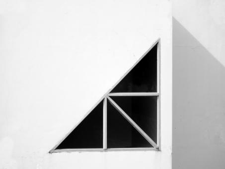Free Stock Photo of Abstract Architectural Background: Triangular window