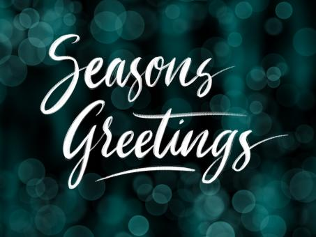 Free Stock Photo of Seasons Greetings calligraphy