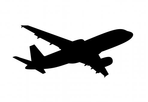 Free Stock Photo of Airplane Silhouette