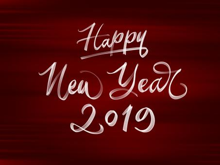 Free Stock Photo of Happy New Year 2019 Text