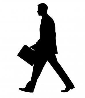 Free Stock Photo of Businessman Silhouette