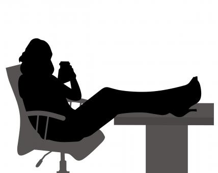 Free Stock Photo of Business Woman Silhouette
